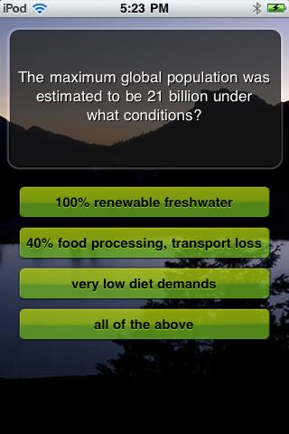 Screenshot EcoQuiz